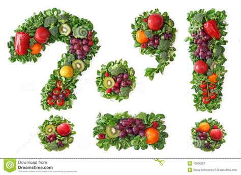 fruit 11 letters fruit and vegetable alphabet stock image image 19056267