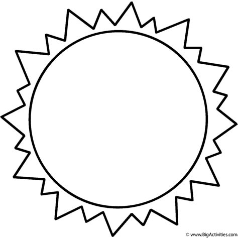 sun coloring page space