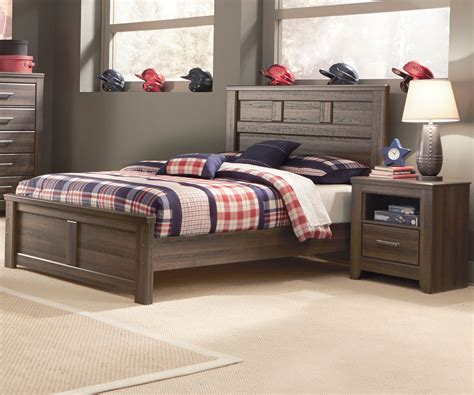 size of full bed b251 juararo panel bed boys full size beds ashley kids
