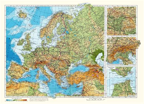 geographical map of europe maps of europe map of europe in political