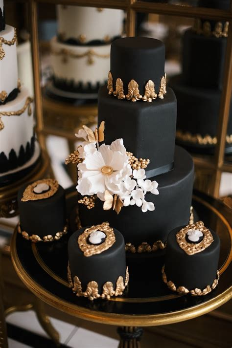 Black Wedding Cakes by Getting To Elizabeth Solaru Elizabeth S Cake