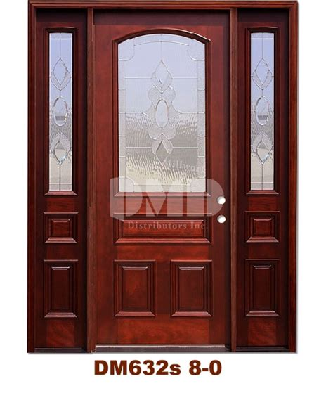 Mahogany Exterior Doors Wholesale Dm632s Mahogany Exterior 3 4 Arch Lite Strathmore Zinc Caming 8 0 Door And Millwork