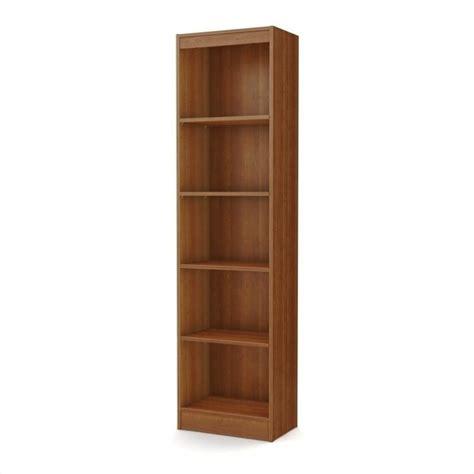 south shore morgan 4 shelf bookcase south shore axess 5 shelf narrow bookcase in morgan cherry