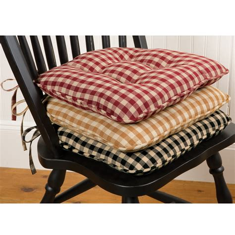 classic country check chair pad sturbridge yankee workshop