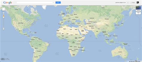 googole maps world map free large images