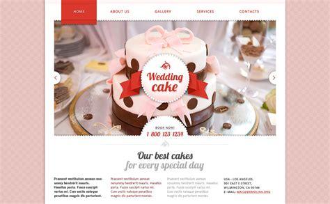 wedding cake websites wedding cake responsive website template 48177