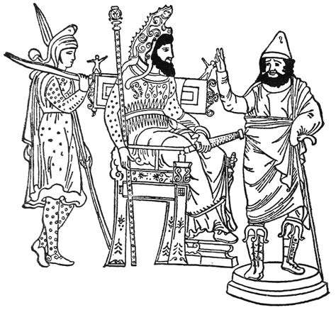 king xerxes coloring pages xerxes the great king on his throne color the bible