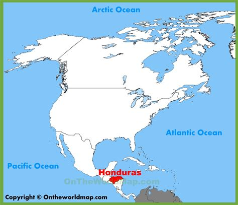 where is honduras located on the world map honduras location on the america map