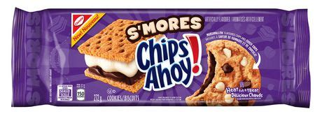 Chips Ahoy Smores Cookie christie chips ahoy s mores marshmallow flavoured chips and choco chips cookies walmart canada