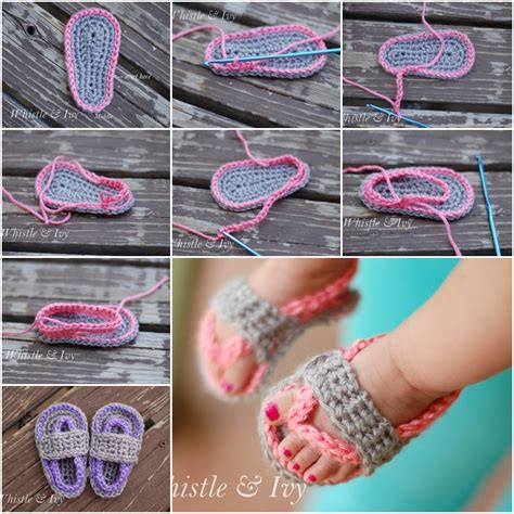 how to crochet baby sandals crochet baby sandals free patterns beesdiy