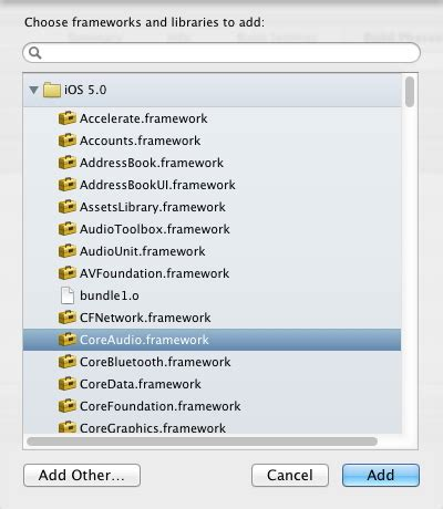 audio format for xcode objective c where can i download the core audio sdk for