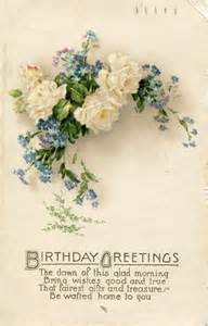 a collection of vintage floral birthday postcards part 3 vintage postcards