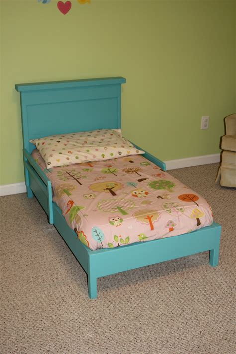 toddler bed diy ana white traditional toddler bed with rustic headboard