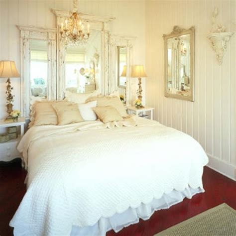 shabby chic mirror headboard home decor pinterest