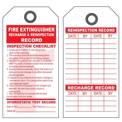 extinguisher inspection tag template product details designsnprint