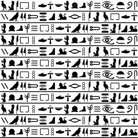 egyptian pattern black and white ancient egyptian vector seamless horizontal pattern with