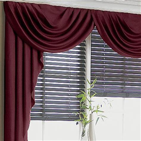 jcpenney supreme drapes supreme antique satin cascade swag valance jcpenney