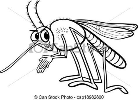 imagenes del zika en blanco y negro clipart vecteur de insecte coloration moustique page