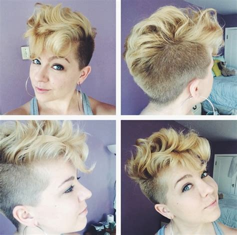 lovely wavy curly pixie styles short hair popular