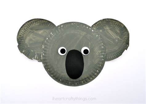Paper Plate Koala Kid Craft I Crafty Things