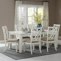 White Dining Room Furniture Thematic White Dining Room Sets For Your Intimate Soul