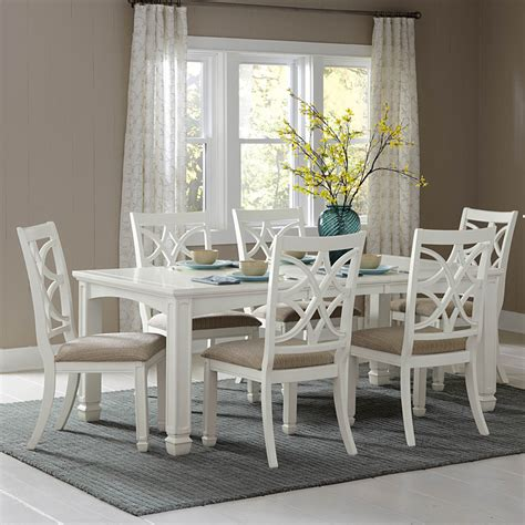 get design of the white dining room set