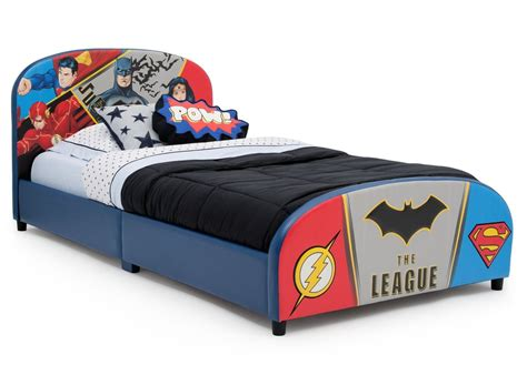 Dc Comics Bedding by Dc Comics Justice League Upholstered Bed Delta Children
