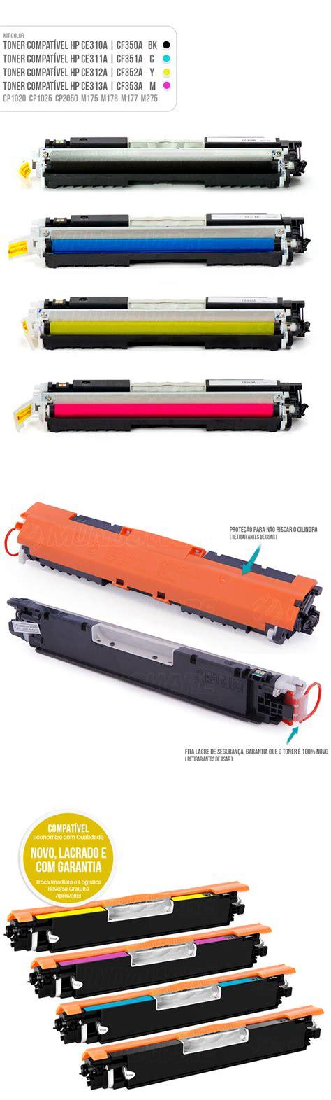 Toner Hp Warna Cf 352a 310 Yellow kit colorido de toner compat 237 vel 126a 130a para hp m176n mundoware