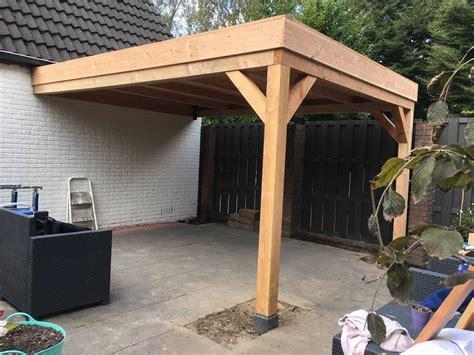 veranda zelfbouw douglas veranda 400x300cm met plat dak stange houthandel