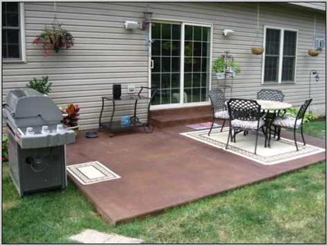 staining concrete patio patios home design ideas