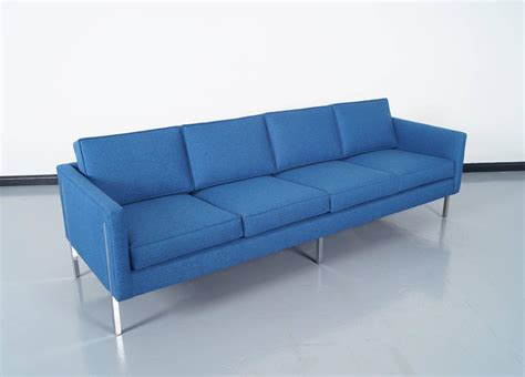 mid century sofas mid century modern chrome sofa at 1stdibs