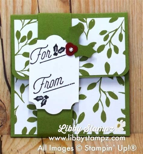 Quick Gift Card - quick gift card holder video libbystz libby dyson stin up demonstrator