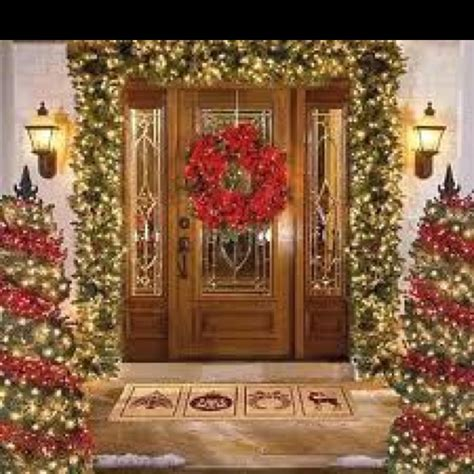 christmas front door decor front door christmas decor home for the holidays pinterest
