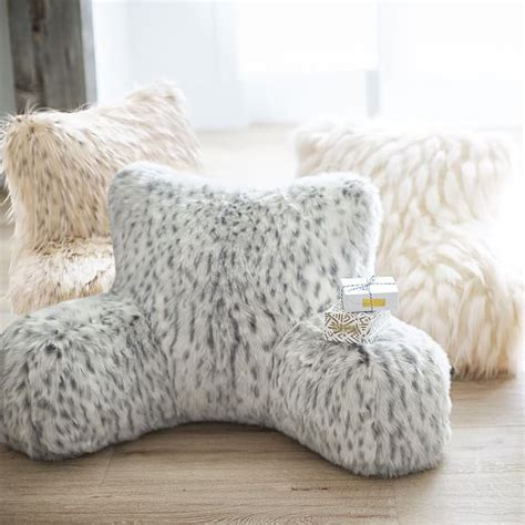 lounge pillow cover faux fur lounge around pillow cover pbteen
