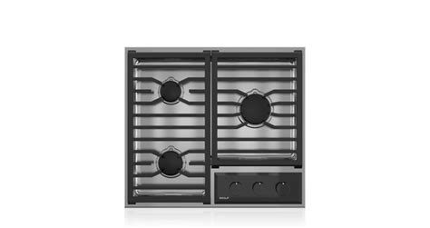 24 In Gas Cooktop - 24 quot transitional framed gas cooktop cg243tf s wolf