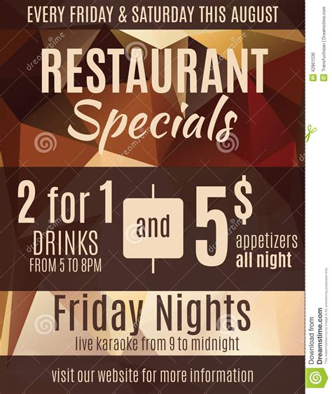 Restaurant Flyer Coupons Bing Images Specials Flyer Template