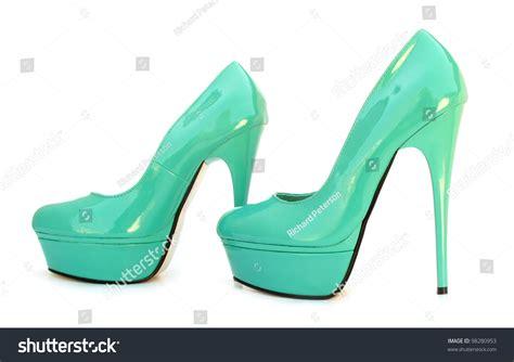 sky blue high heels sky blue blue high heels shoes stock photo 98280953