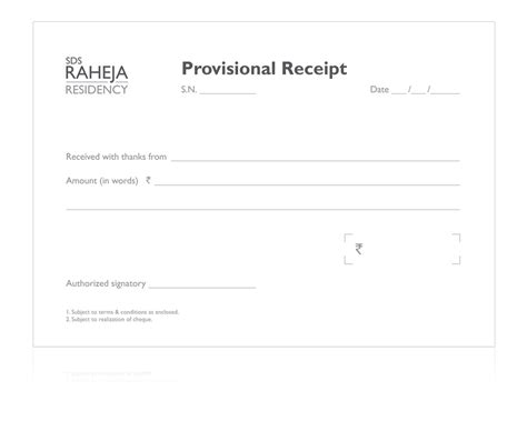 provisional receipt sle template provisional receipt ether india