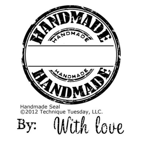 Handcrafted By - technique tuesday handmade seal st sts