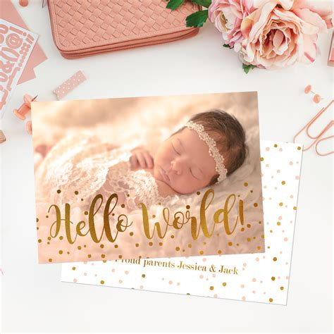baby birth announcement card template free how to work with birth announcement templates in adobe