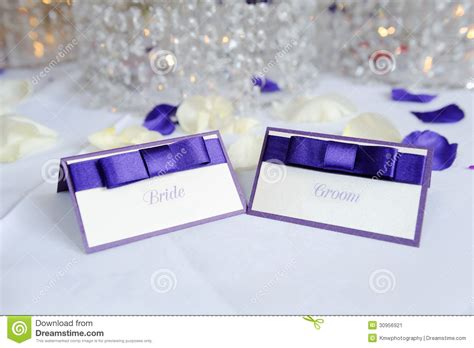 place card for wedding reception and groom place cards stock image image of place