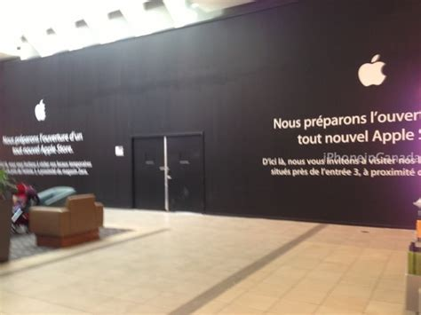 The Iphone X Is A Lava L Apple Store Carrefour Laval Undergoing Renovations New