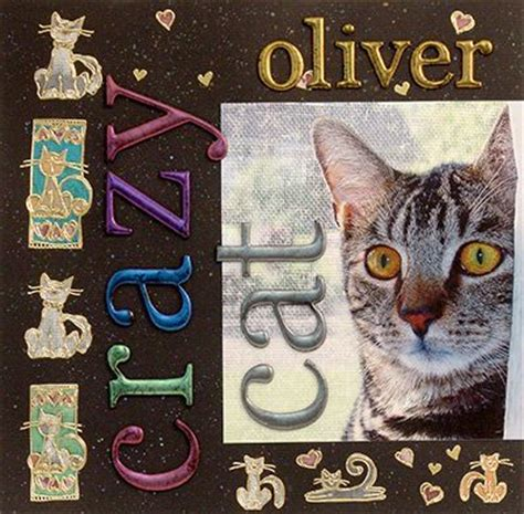 scrapbook layout cat crazy cat scrapbook page layout ranger ink and