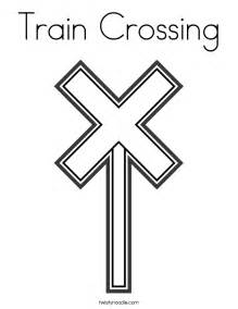 Railroad Crossing Coloring Pages Coloring Pages Railroad Crossing Coloring Page