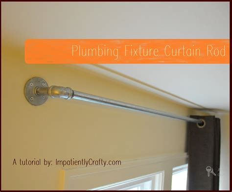 plumbing pipe curtain rods tutorial industrial plumbing pipe curtain rods