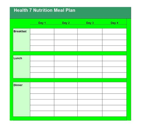 plan templates 40 weekly meal planning templates template lab