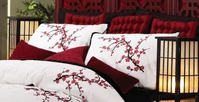 japanese cherry blossom comforter set asian cherry blossom bedding set red white comforter
