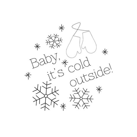 Baby Its Outside by Baby It S Cold Outside Embroidery Pattern