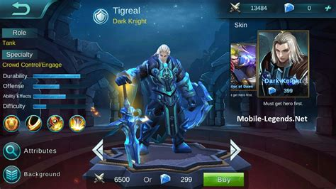 tigreal high ad build  mobile legends