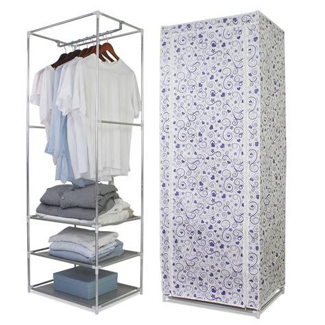 Single Fabric Wardrobe - finether polycotton single wardrobe portable clothes
